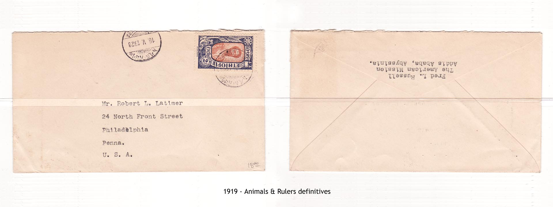 1919 - Animals & Rulers definitives