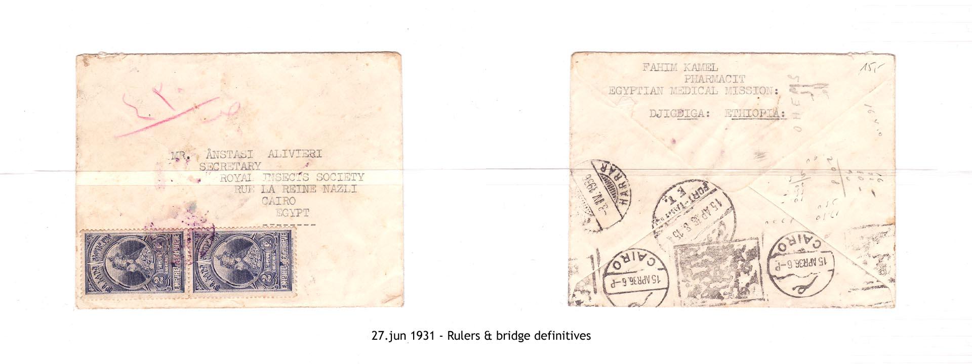 19310627 - Rulers & bridge definitives