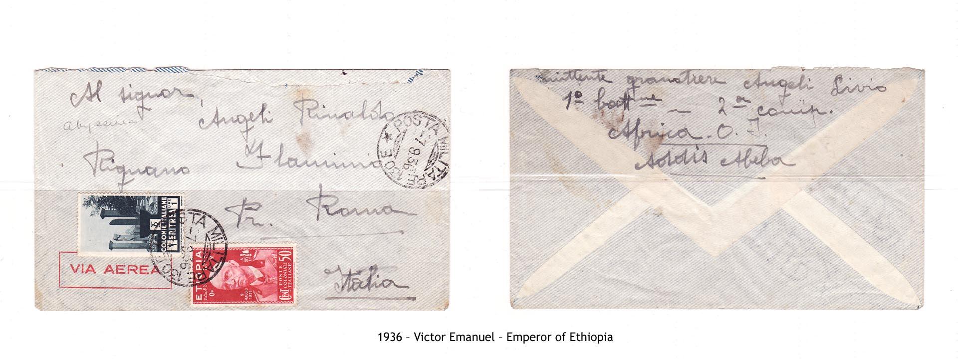 1936 – Etiopia Victor Emanuel – Emperor of Ethiopia