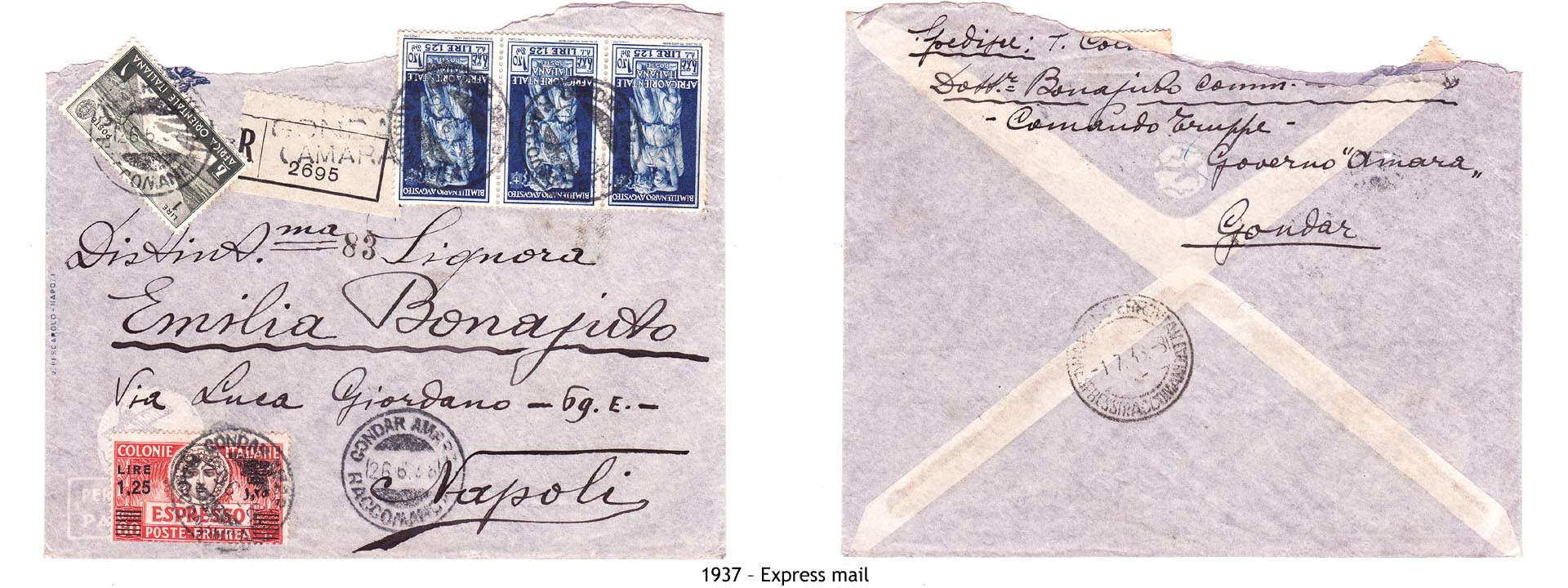1937 – Eritrea Express mail
