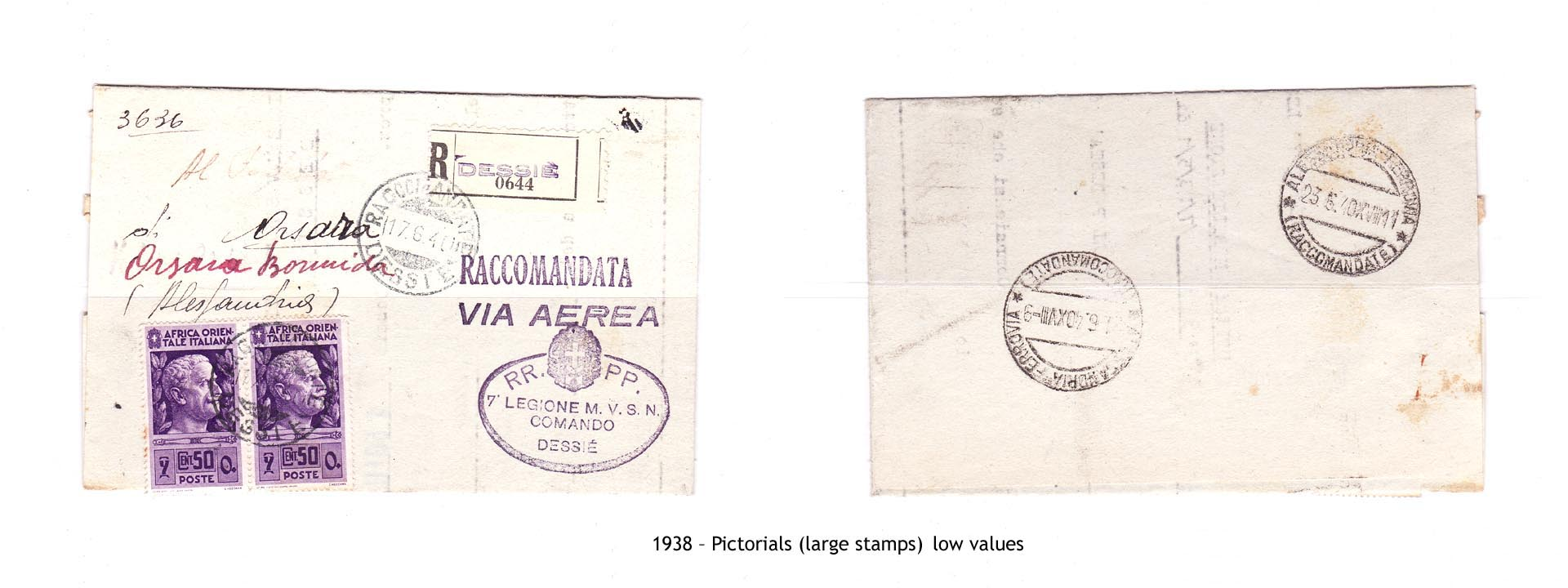 1938 – AOI Pictorials (large stamps) low values