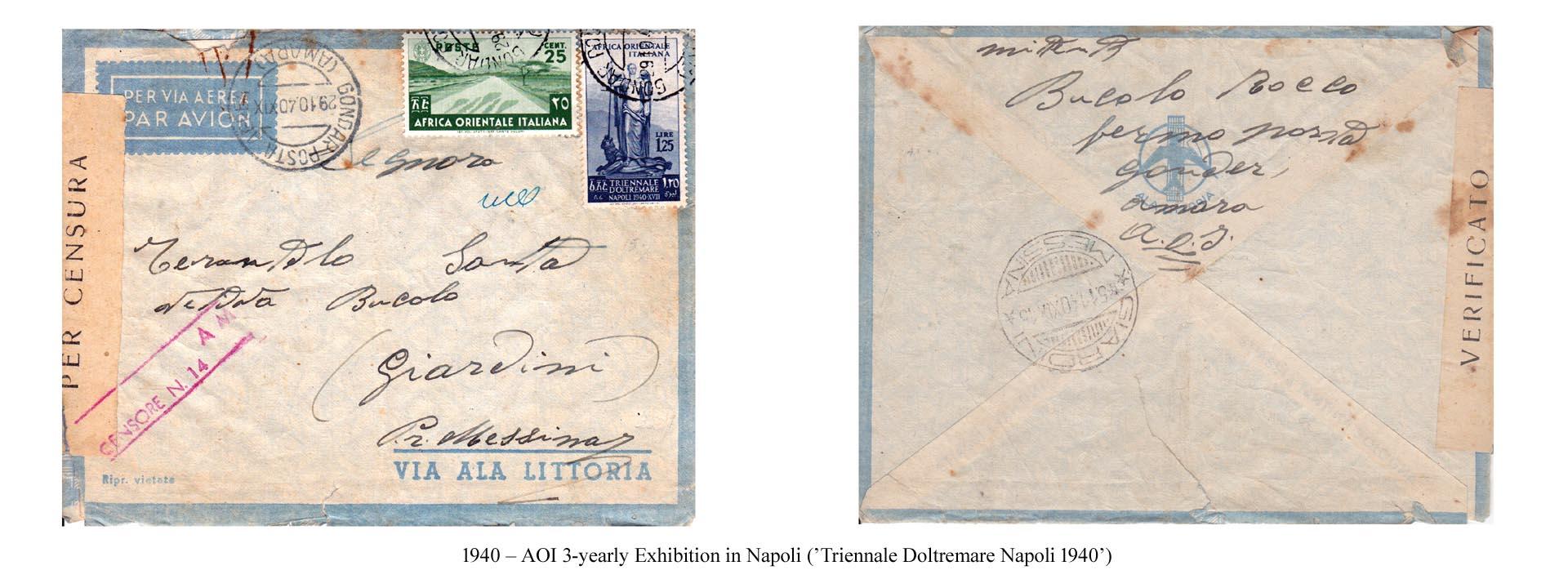1940 – AOI 3-yearly Exhibition in Napoli (Triennale Doltremare Napoli 1940) 2
