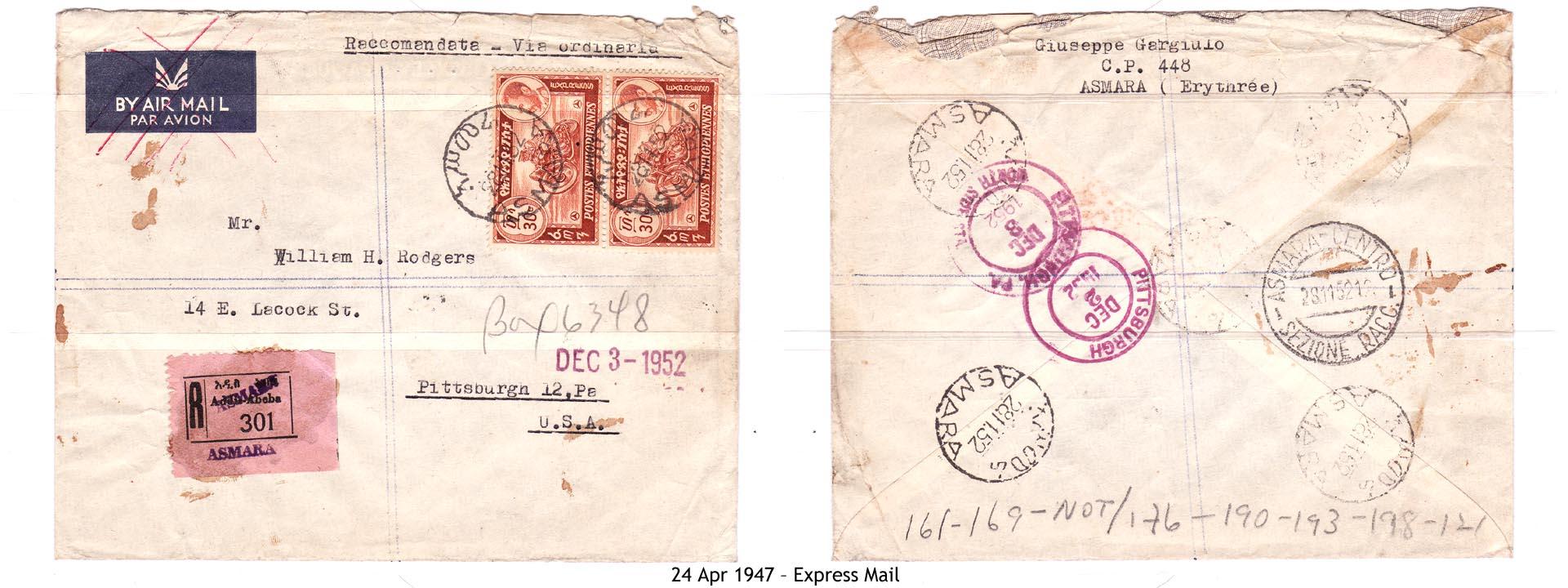 19470424 – Express Mail