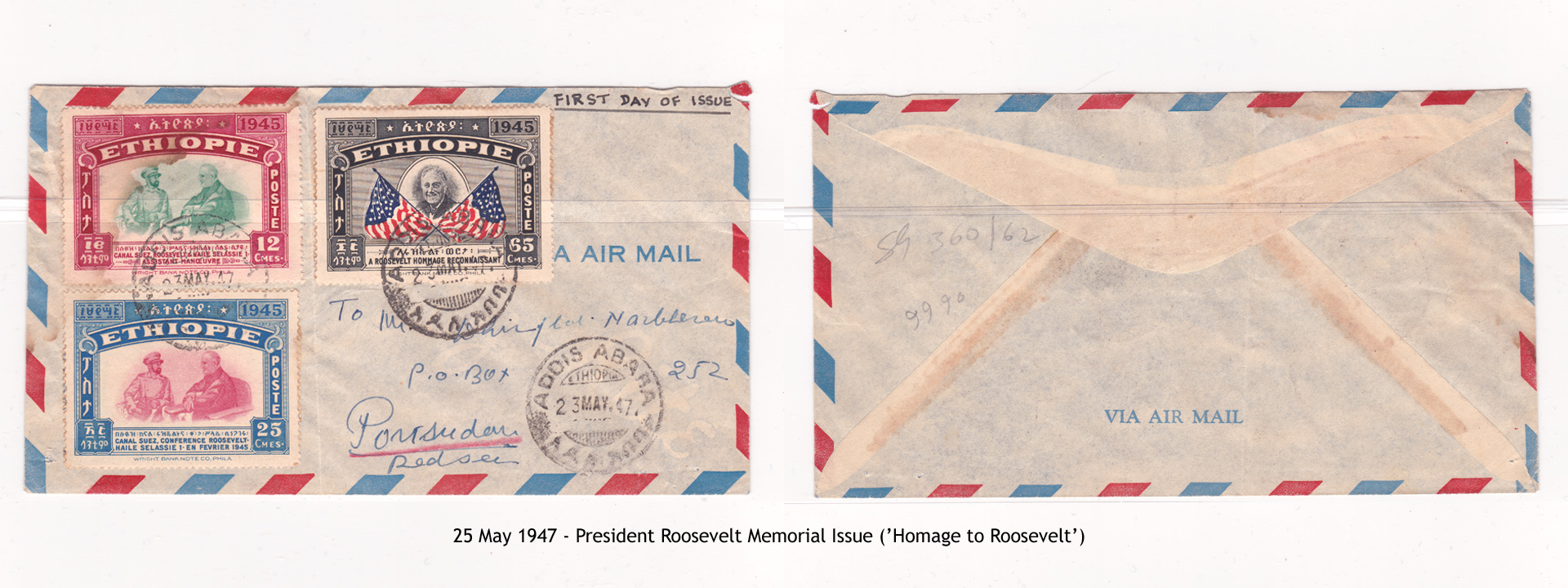 19470523 – President Roosevelt Memorial Issue ('Homage to Roosevelt')2