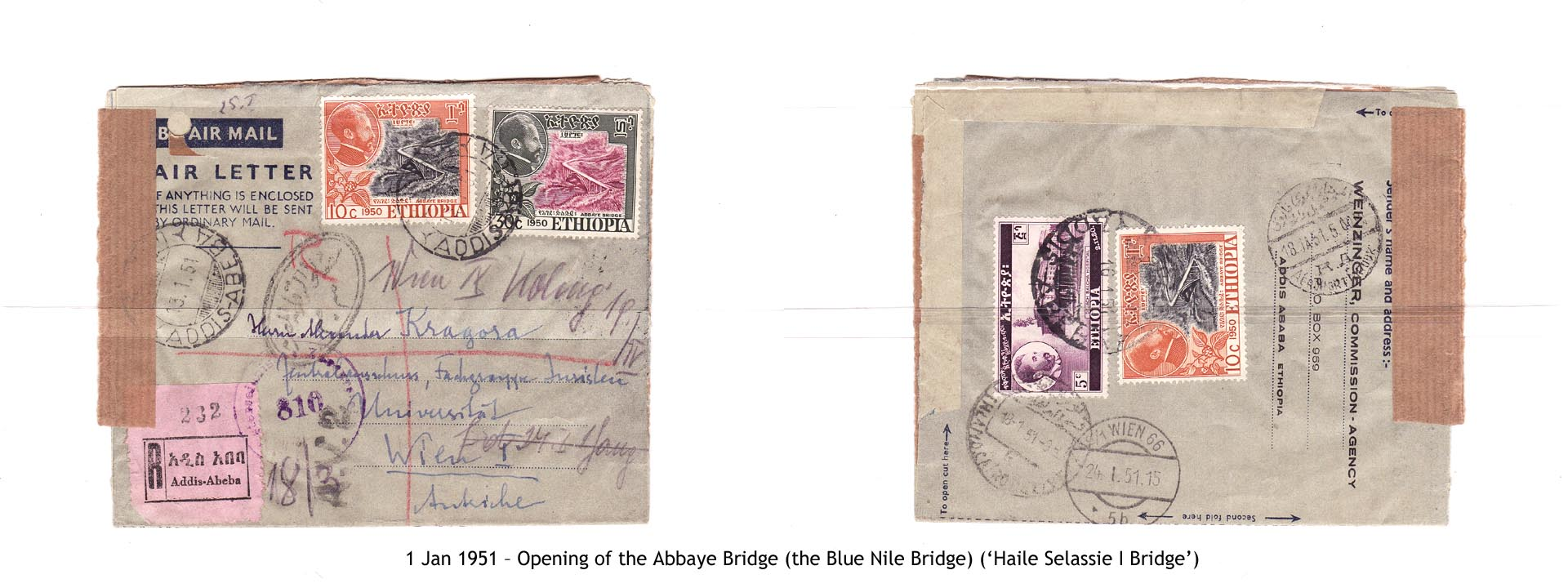 19510101 – Opening of the Abbaye Bridge (the Blue Nile Bridge) ('Haile Selassie I Bridge')