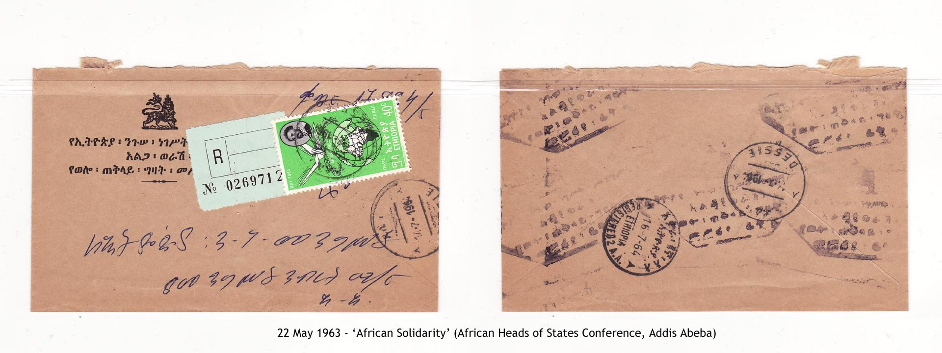 19630522 – African Solidarity (African Heads of States Conference, Addis Abeba)