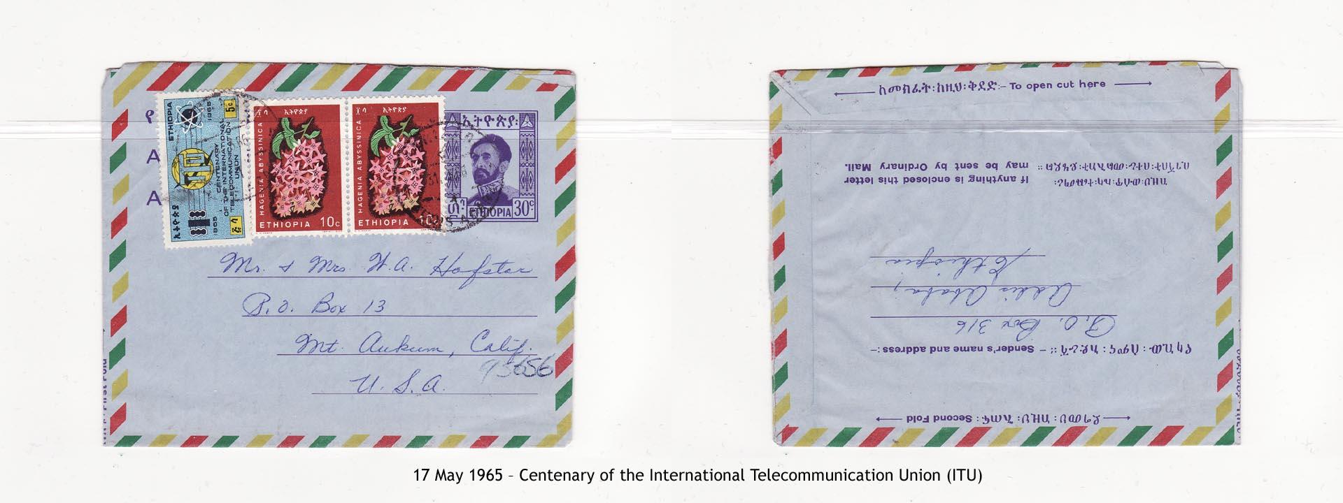 19650517 – Centenary of the International Telecommunication Union (ITU)