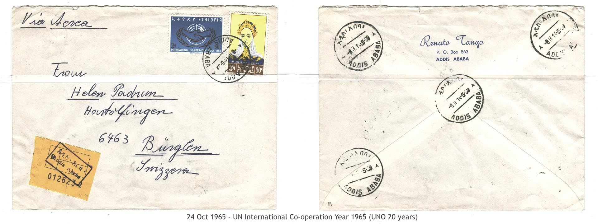 19651024 – UN International Co-operation Year 1965 (UNO 20 years)