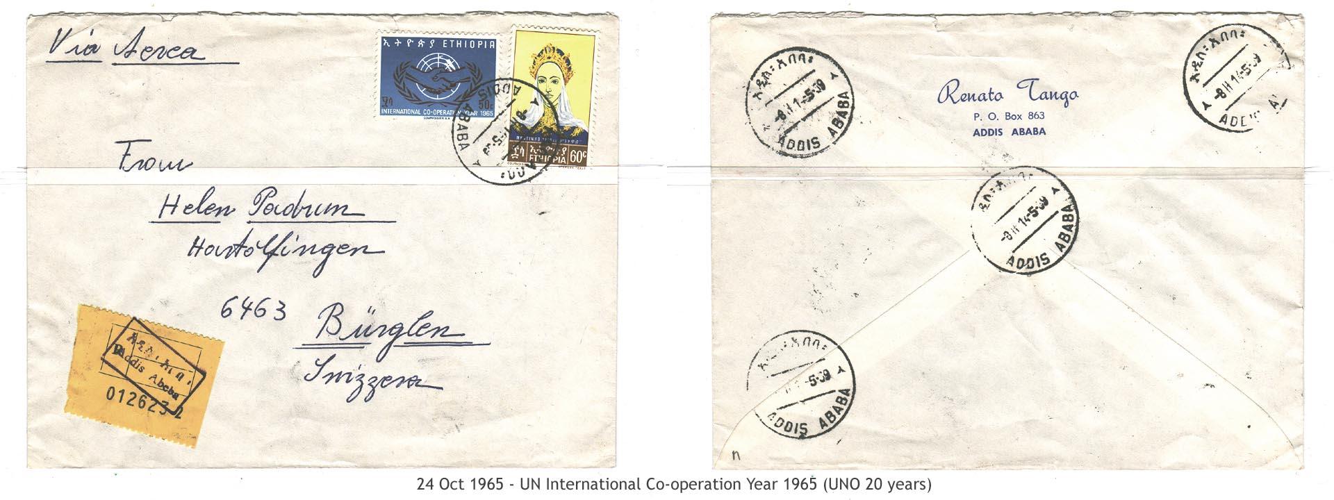 19651024 – UN International Co-operation Year 1965 (UNO 20 years)