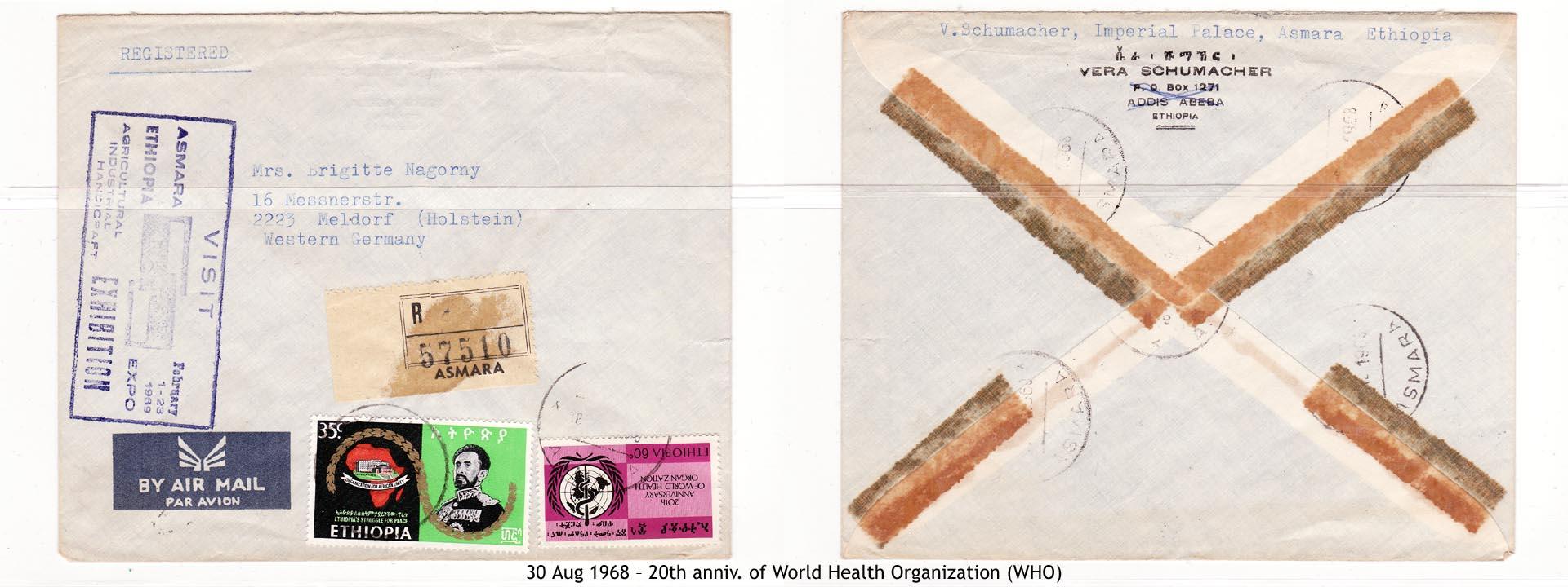 19680830 – 20th anniv. of World Health Organization (WHO)
