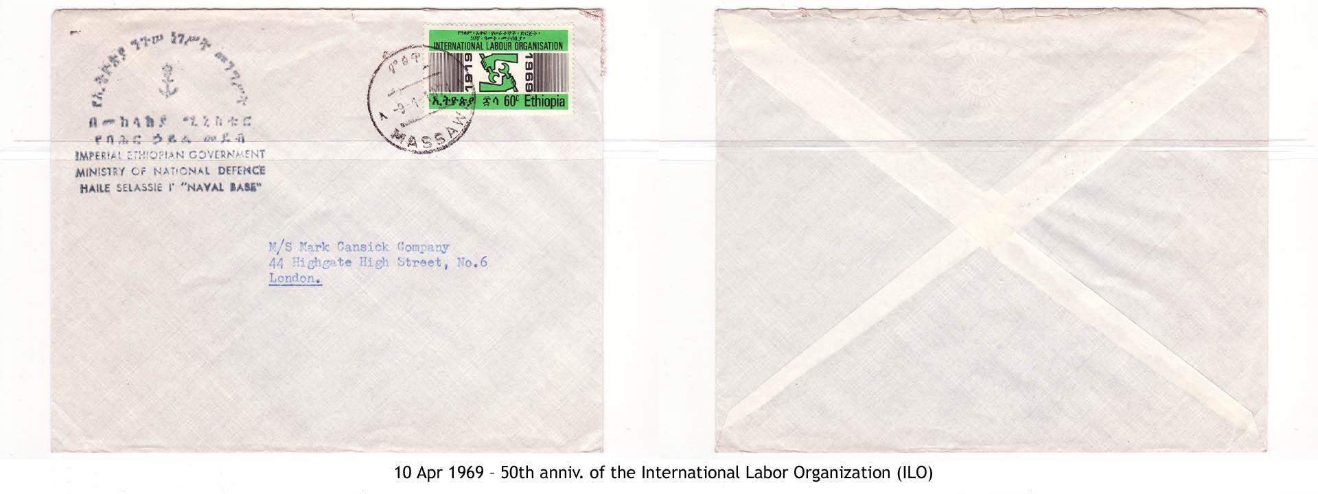 19690410 – 50th anniv. of the International Labor Organization (ILO)