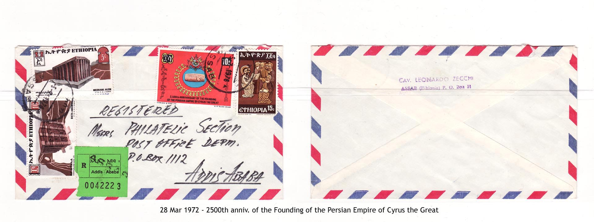 19720328 - 2500th anniv. of the Founding of the Persian Empire of Cyrus the Great