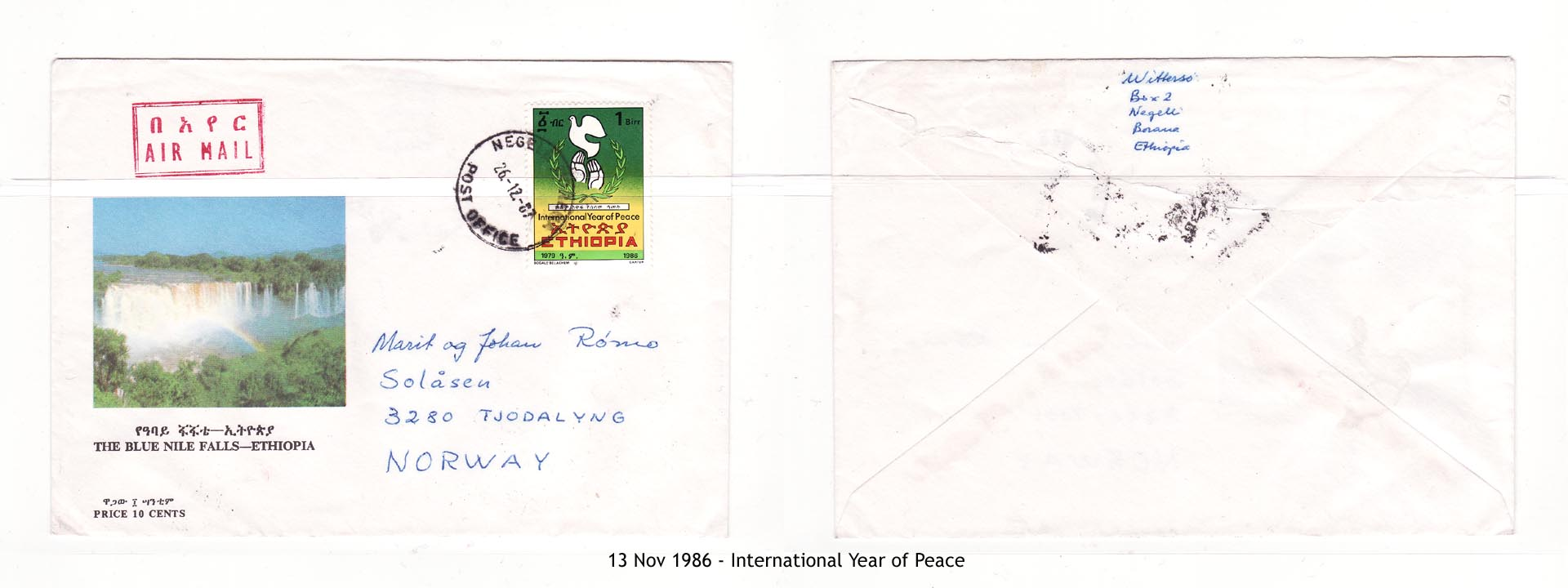 19861113 - International Year of Peace