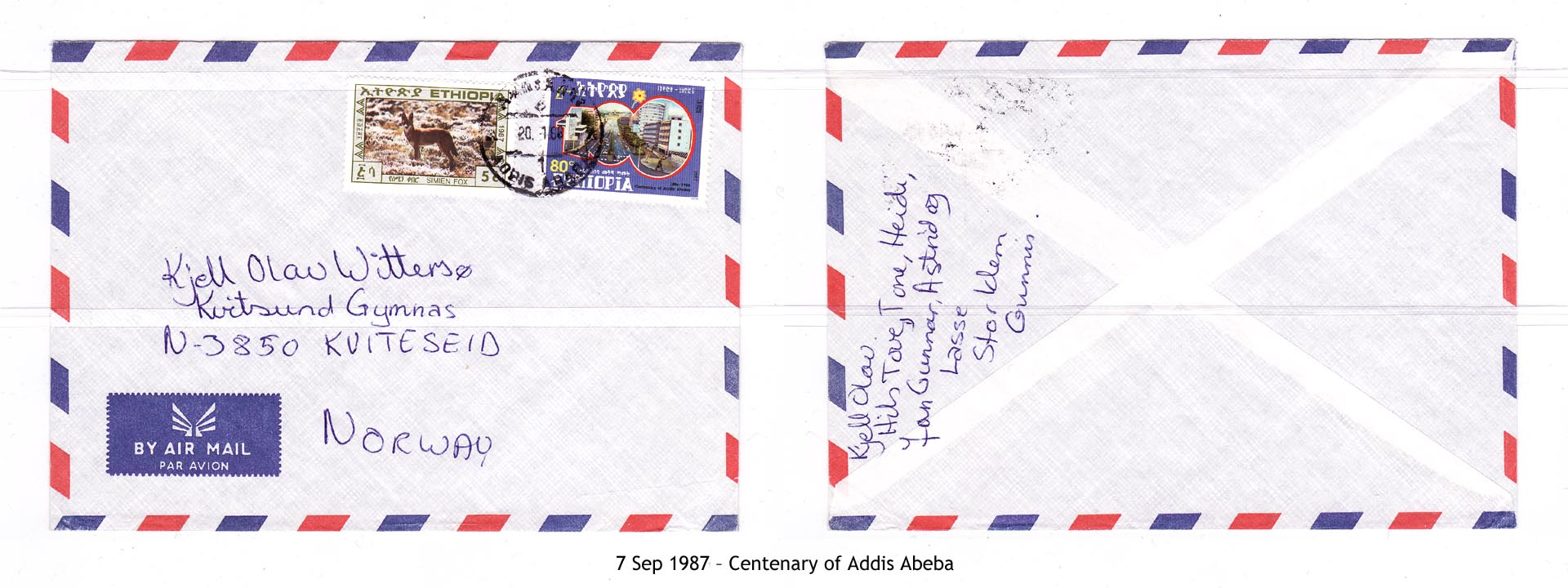 19870907 – Centenary of Addis Abeba