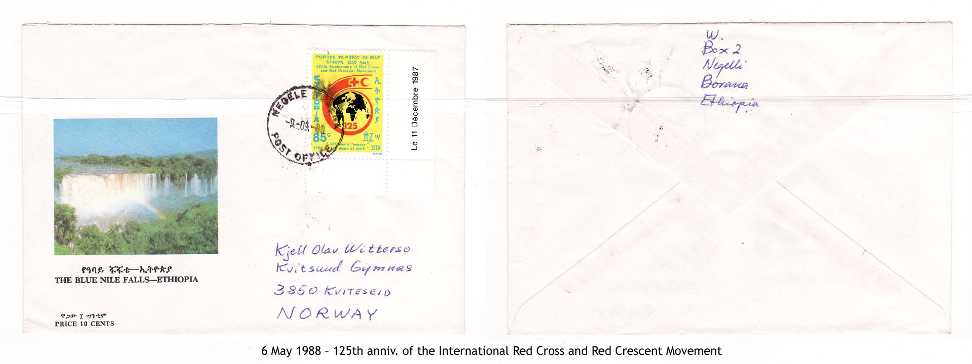 19880506 – 125th anniv. of the International Red Cross and Red Crescent Movement
