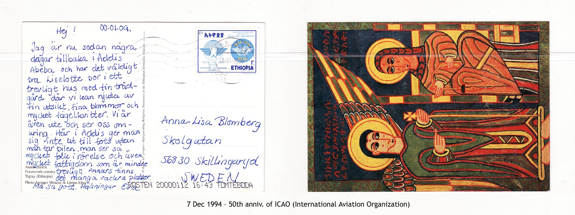 19941207 – 50th anniv. of ICAO (International Aviation Organization)