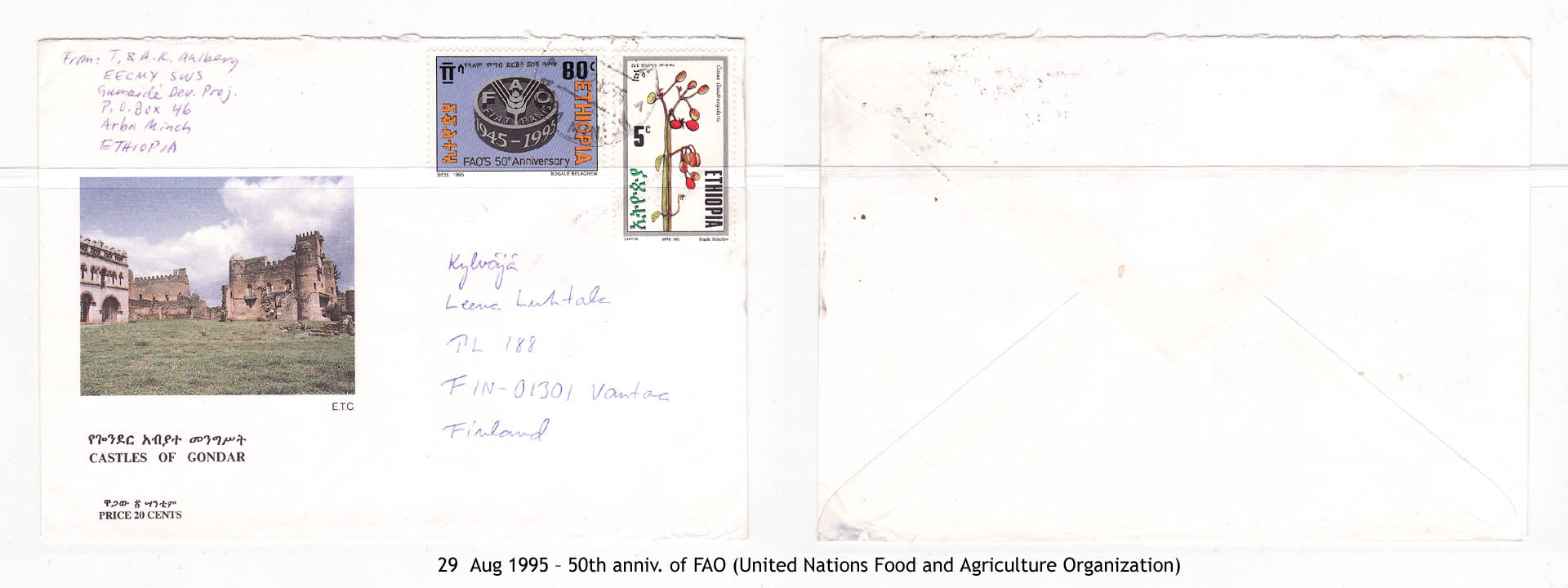 19950829 – 50th anniv. of FAO (United Nations Food and Agriculture Organization)