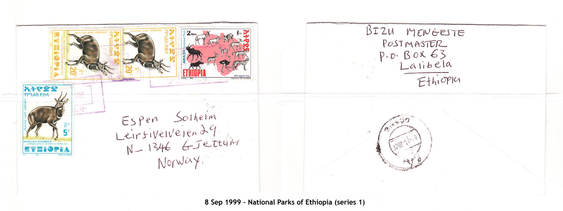 19990908 – National Parks of Ethiopia (series 1)