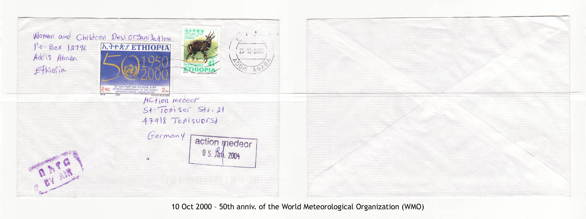 20001010 – 50th anniv. of the World Meteorological Organization (WMO)