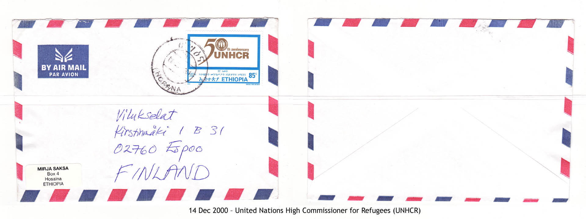 20001214 – United Nations High Commissioner for Refugees (UNHCR)