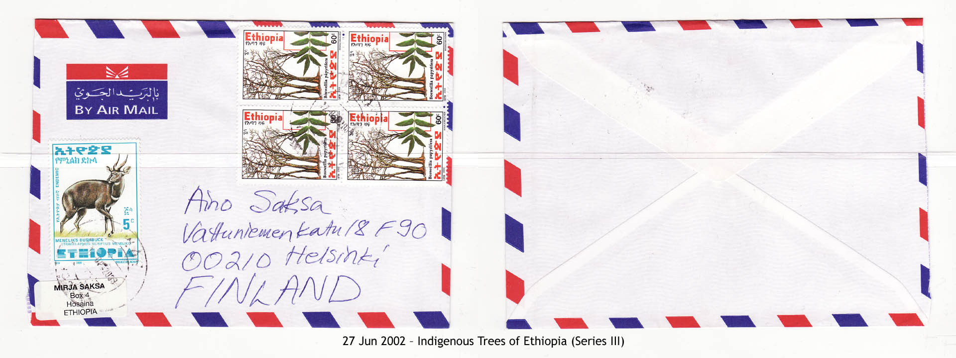 20020627 – Indigenous Trees of Ethiopia (Series III)