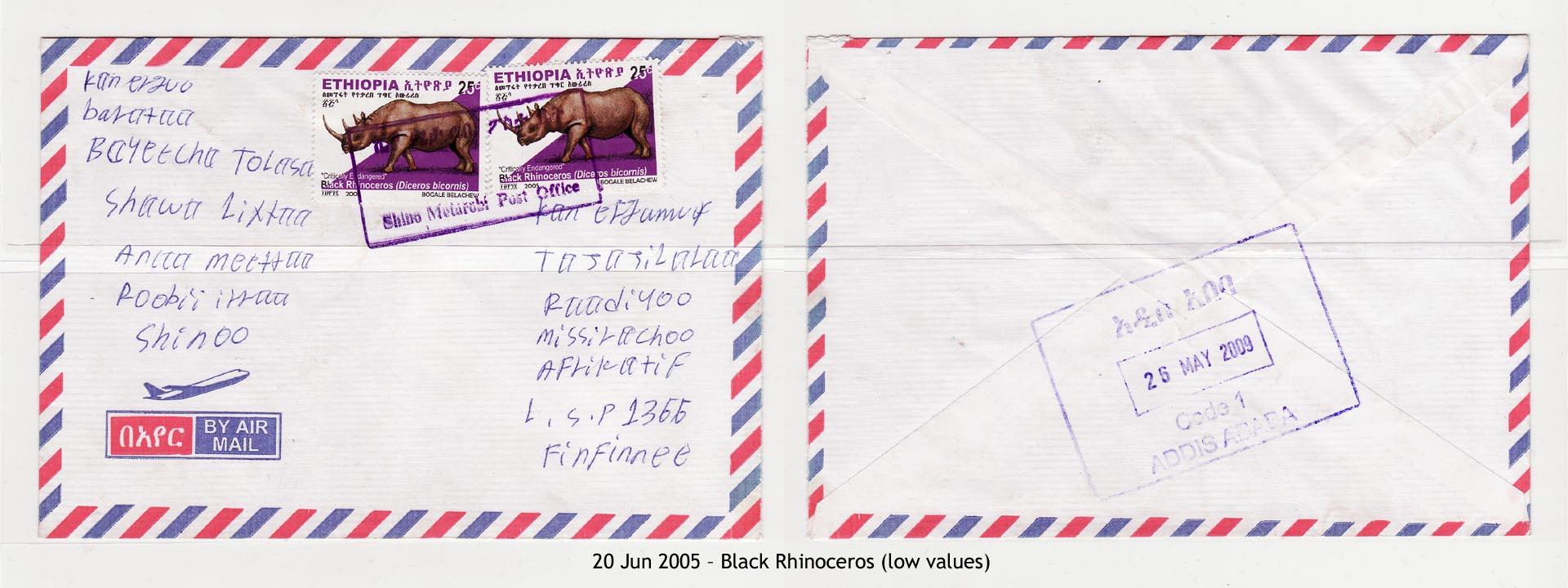 20050620 – Black Rhinoceros (low values)