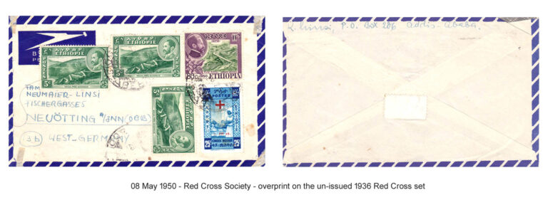 19500508 - Red Cross overprint