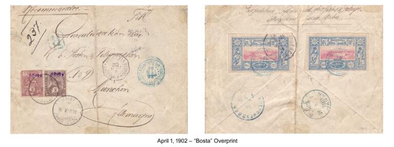 1902 – Bosta Overprint